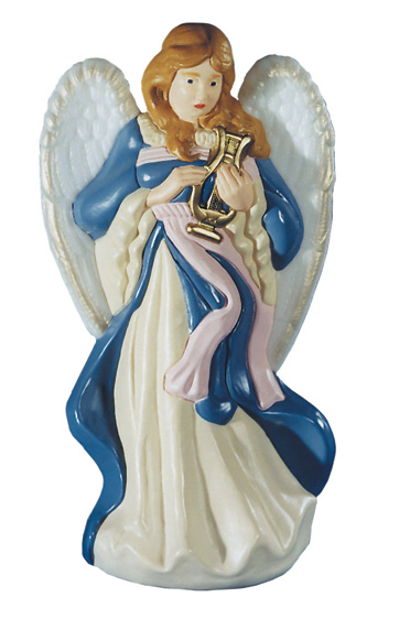 nativity angel playing harp by general foam plastics corp christmas decorations