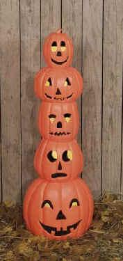 outdoor light up halloween decoration 39 s pumpkin stack. Black Bedroom Furniture Sets. Home Design Ideas