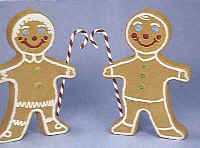 Gingerbread Boy and Girl - Illuminated - Item Number 77400