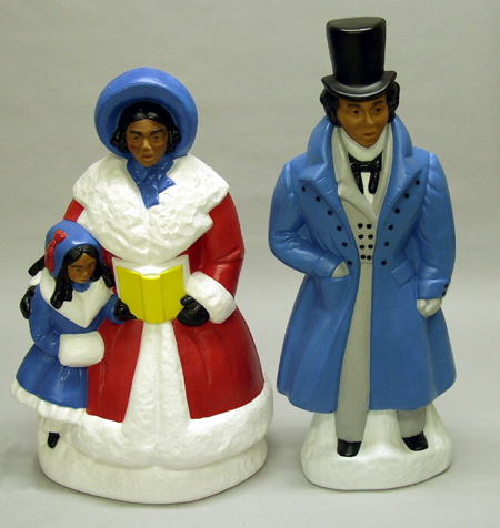African American Victorian Dickens Carolers Christmas Decorations ...